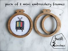 Miniature embroidery frames Pack of 2 x hoops by creativemuster, $8.00