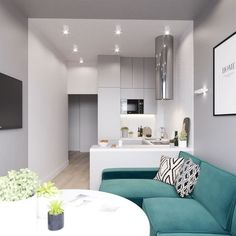 Dining room and kitchen in one small room, Dining room and small kitchen . Small Apartment Interior, Apartment Layout, Apartment Design, Home Decor Kitchen, Interior Design Living Room, Kitchen Dining, Dining Room, Small Space Living, Small Spaces