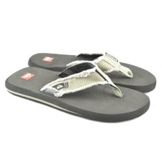 Flip flops planas de entrededo fabricadas con materiales de goma y corte de lona de la marca QUIKSILVER.