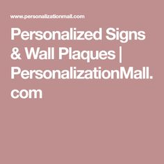 Personalized Signs & Wall Plaques | PersonalizationMall.com