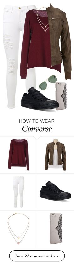 """The River"" by annahcat on Polyvore featuring Frame Denim, Fred Perry, Michael Kors, Nanette Lepore, Converse, Madewell and bluessaraceno"