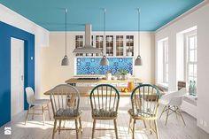 Sufit wcale nie musi być biały!🌈☄Co o tym myślicie? 😍💕Aby nadać duszę naszemu wnętrzu, wystarczy niewielka zmiana np. koloru sufitu:) po więcej inspiracji zapraszamy do @magnat_farby !💕💕 #magnat #magnatfarby #magnat_farby #homebook #home #design #interior #colour #awesome #amazing #love #kitchen #blue #new #inspiration #interiordesign #cozy #wall