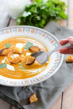 Soupe de patates douces au chorizo