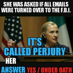 She must be held accountable! No one is above the laws of this beloved country. Not the Clintons......No one!