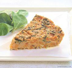 Chickpea Flour Frittata w/ Sweet Potatoes & Kale