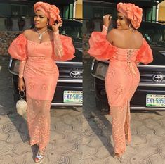 Aso Ebi Lace Styles, Lace Dress Styles, African Lace Dresses, Latest African Fashion Dresses, African Clothes, Ankara Fashion, Ankara Styles, Lace Material Styles, African Attire