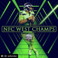 💚💚💚 #Repost @snfonnbc ・・・ The @seahawks are NFC West Champs! #TNF #LAvsSEA #Seattle #Seahawks #Football #NFC #Champions