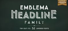 Emblema Headline by Corradine Fonts - a diverse, complex and original solution