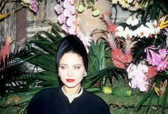 Ornella Muti photographed by Bertrand Rindoff Petroff at a party organized by Cartier in Paris, 1987