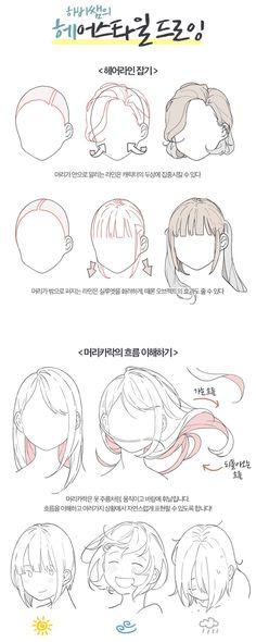 Drawing Hair Tips – Hair Drawing Hair Reference, Art Reference Poses, Drawing Reference, Drawing Base, Manga Drawing, Gesture Drawing, Drawing Skills, Drawing Techniques, Drawing Tips