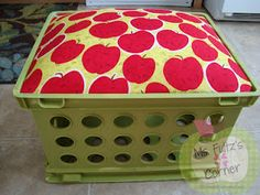 Diy classroom crate seat