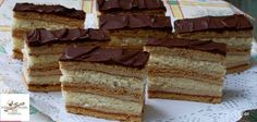 László szelet, Easter Story, Hungarian Recipes, Pastry Chef, Chef Recipes, Vanilla Cake, Tiramisu, Waffles, Muffin, Food And Drink