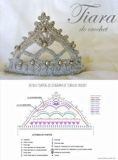 Tiara de crochet / Crochet tiara