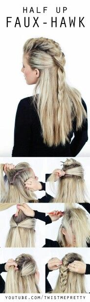 Mohawk braided hairstyle