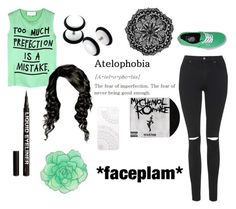 """""""atelophobia"""" by taylorlayneee ❤ liked on Polyvore featuring 5 Preview, Topshop, H&M and Monika Strigel"""