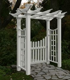 Garden Gate Arbors Designs arbor gate outside dining room windows on ryans side garden path in Find This Pin And More On Pretty Garden Gates And Pergolas