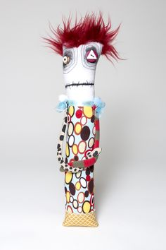 Diane Slagle red-headed monster doll fall 2014  Anxiety Faeries by Snotnormal on Etsy Snotnormal: Poke around and pick something out!!! https://www.etsy.com/shop/Snotnormal