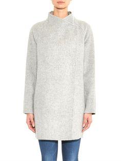 Vince Sweater-back wool-blend coat
