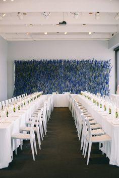 Modern Muesum wedding at The Walker Art Center in Minneapolis Minnesota. A stunning purple flower wall for their intimate wedding. Wedding Reception Decorations, Wedding Venues, Table Decorations, Museum Wedding, Fine Art Wedding Photography, Flower Wall, Purple Flowers, Getting Married, Real Weddings