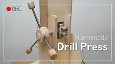 Woodworking Basics, Easy Woodworking Projects, Woodworking Techniques, Homemade Drill Press, Wood Rack, Tool Shop, Door Handles, Sweet Home, Youtube