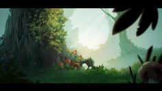 Forest Background on Behance