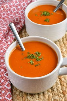 Slimming Eats - Syn Free Cream of Tomato Soup - gluten free, vegetarian, Slimming World and Weight Watchers friendly
