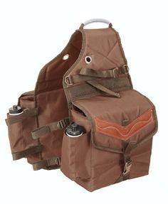 61-9395 Multi-Pocket Insulated Nylon Saddle Bag