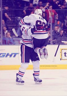 Patrick Kane and Marian Hossa, this picture is too much for me to handle