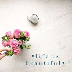 • life is beautiful • Short & sweet to join in with our theme  of  q u o t e s  over @mymondaymoodboard ....everyone welcome to play along, just tag your favourite quotes to #mymondaymoodboard  Happy Monday x