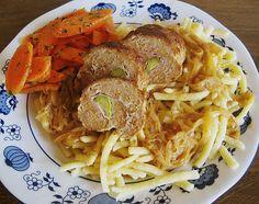 Chefkoch.de Rezept: Hackröllchen in Zwiebelsoße