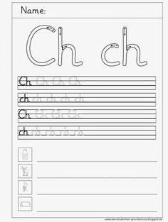 hier erst einmal 5 Schreibblätter zum Ch   und dann werde ich überlegen,   was ich mit kleinen Wörtern   und Nomen noch so alles machen ka...