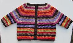 """Free pattern for """"Scrap Yarn Baby Cardigan""""! ༺✿ƬⱤღ  http://www.pinterest.com/teretegui/✿༻"""
