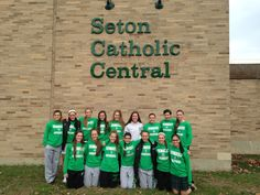 The Seton Catholic Central Girls Varsity Soccer Team poses for a picture before leaving for their State Regional game vs Spackenkill. Athletics, Regional, Catholic, November, Soccer, Poses, Game, Girls, Pictures