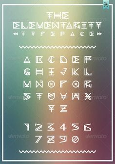 The Elementarity   #GraphicRiver        The Elementarity The Elementarity is a typeface inspired by the combined aesthetics of timeless geometric typefaces with contemporary influences. Merged to create a sophisticated contemporary look that is perfect for display Headlines, Posters, Logo, Decorations, Flyers, Titling & More. TTF (TRUE TYPE FONT).  Font contains   Uppercase Two metric styles Numbers  If you like, don't forget to rate.. 	 Designed by Alex Gart