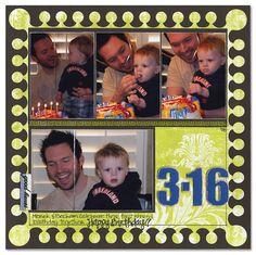 Birthdays: 3-16 - Scrapbook.com - #scrapbooking #layouts