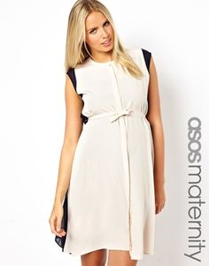 e3b60515bf ASOS Maternity Exclusive Midi Dress With Dipped Back at asos.com