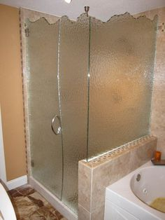An inline glass shower can be quite a one door panel shower view frameless glass shower door projects installed by precision glass in kansas city choose from any frameless shower door design you see here and call planetlyrics Gallery