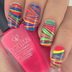 this is a really great method for water marble nails