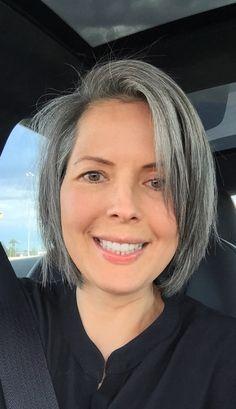 Gray Hair Cheveux gris Cheveux gris, Cheveux et