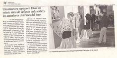 PRENSA EXPOSICIÓN TRAJES RAVACHOL EN EL AÑO  2003