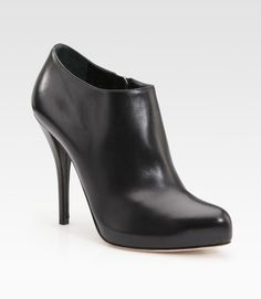 Dior Black Miss Leather Ankle Boots