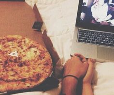 pizza•Pinterest : @vandanabadlani• Elegant romance, cute couple, relationship goals, prom, kiss, hugging, dating, love, tumblr, grunge, hipster, aesthetic, boyfriend, girlfriend, teen couple, young love image