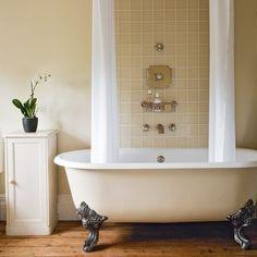 roll top bath shower curtain bathroom pinterest roll