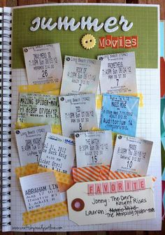 Save all your summer movie tickets, and stick them together in a piece of paper. http://hative.com/scrapbook-ideas/