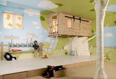 Tree house, indoor tree, storage, wall...