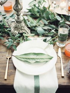 greenery place-card