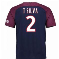 PSG Thiago Silva 2 Heimtrikot 17-18 Kurzarm