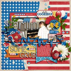 Fun 4th by Digilicious Design Cindy's Templates - Sequentials 1 to 4: Set 7 by Cindy Schneider #digitalscrapbooking