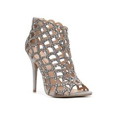 c90acf7a07db Silver Zigi Soho cutout booties with rhinestones that dazzle and sparkle  with every step. Graduation