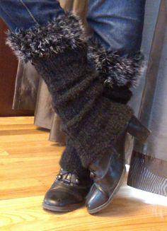 Ravelry: Fuzzy Leg Warmers pattern by Shaye Nielsen